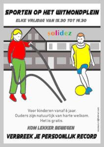 Nicole Pluim Flyer Sporten Witmondplein 2018