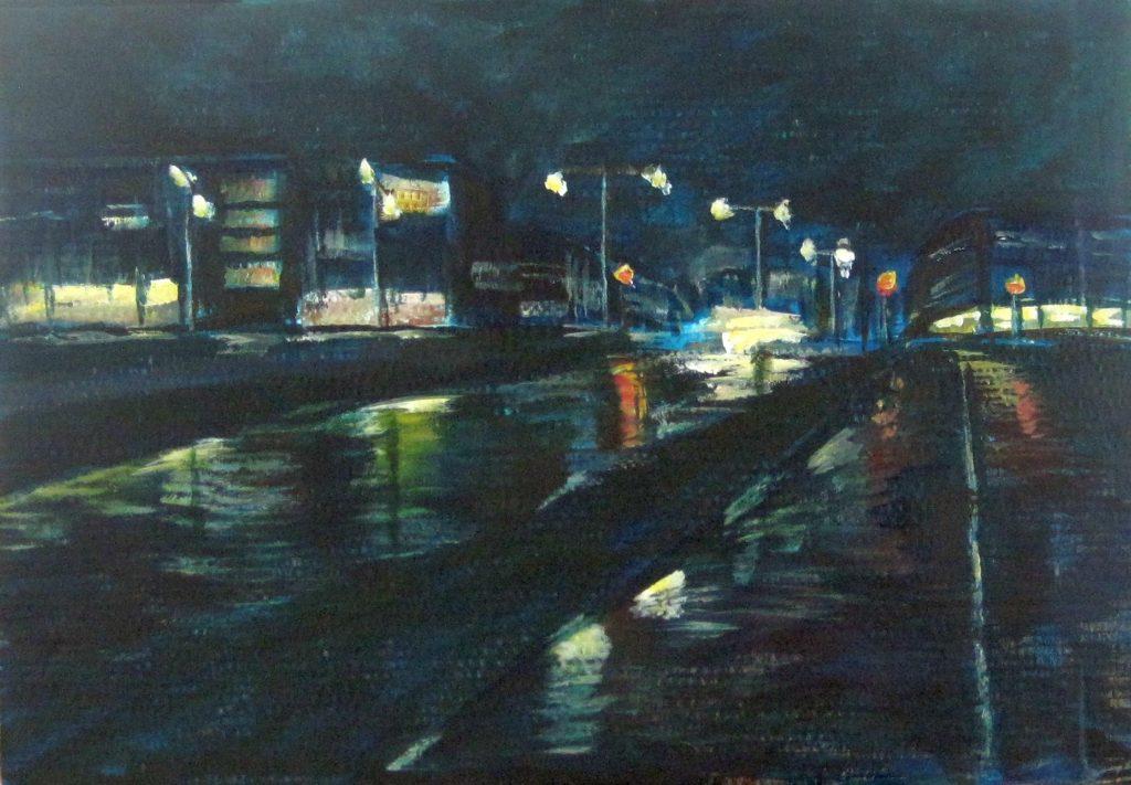 Licht in de nacht - schets - Nicole Pluim