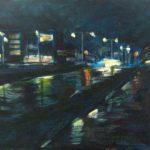 Schilderij Licht in de nacht - acryl- Nicole Pluim
