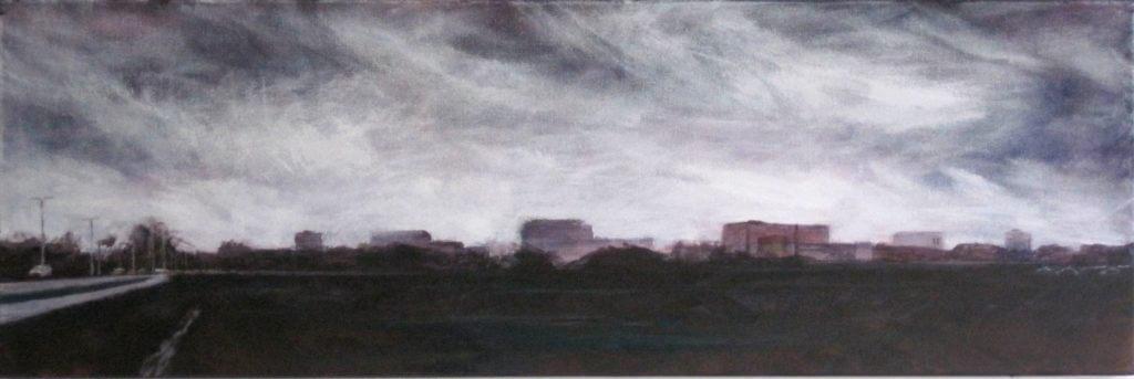 Nicole Pluim Skyline van Wageningen acryl