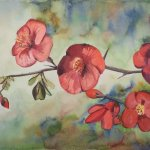 Nicole Pluim Aquarel Japanse Kwee bloemen