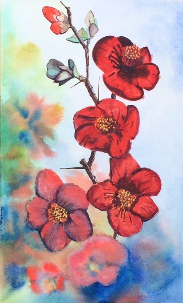 Nicole Pluim Japanse Kwee bloemen