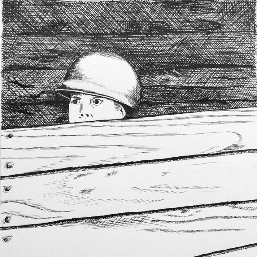 Nicole Pluim illustratie oorlogje spelen