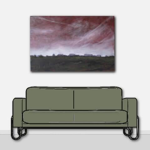 Nicole Pluim Schilderij boven de bank