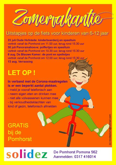 Solidez Zomeractiviteiten fietsuiststapjes Flyer