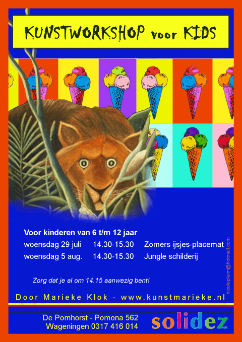 Solidez Kunstworkshop Marieke Flyer