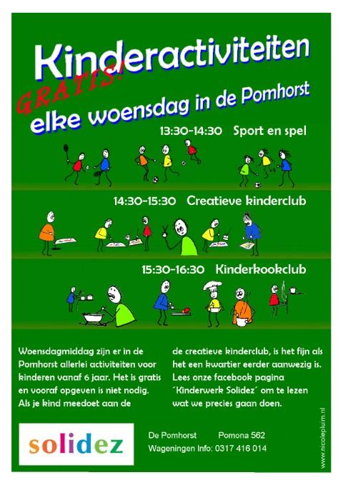 Solidez Kinderactiviteiten op woensdag Flyer