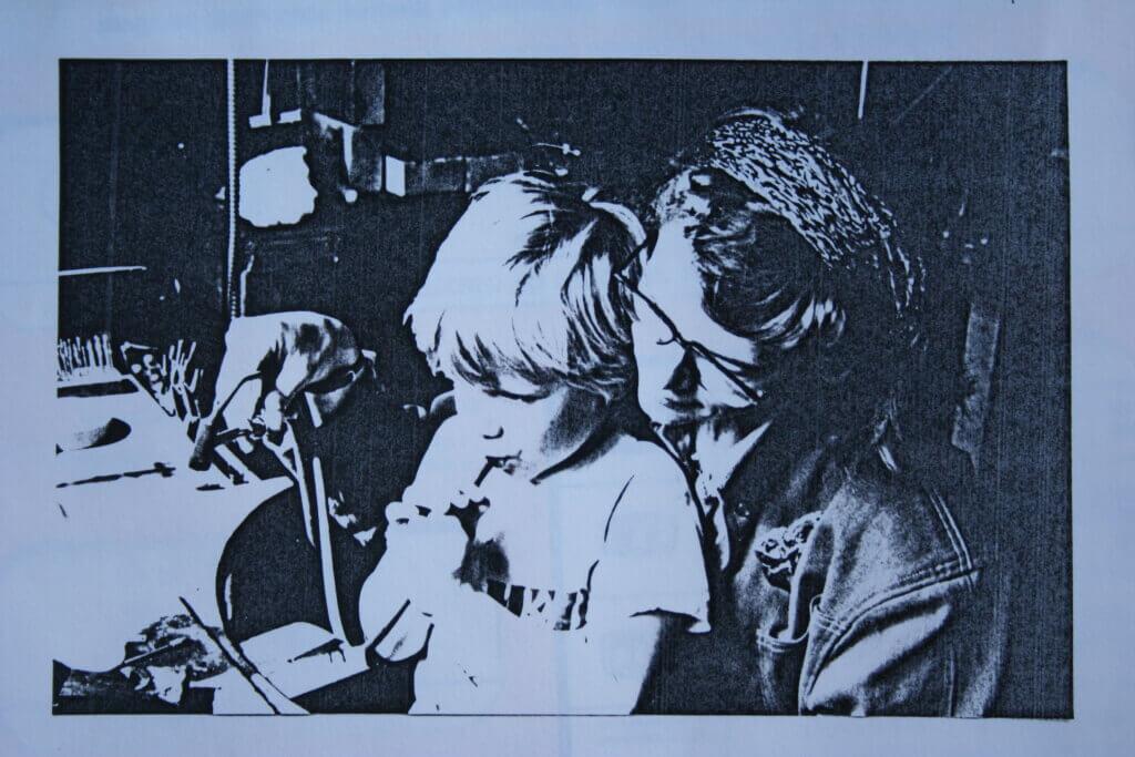 Nicole Pluim Goud en zilversmid met zoon Vincent